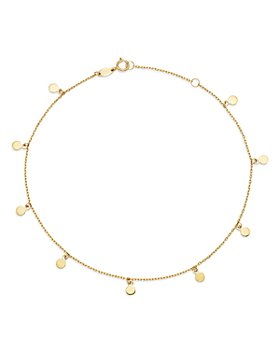 Moon & Meadow - Disk Charm Ankle Bracelet in 14K Yellow Gold - 100% Exclusive