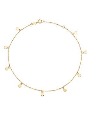 Moon & Meadow Disk Charm Ankle Bracelet in 14K Yellow Gold - 100% Exclusive