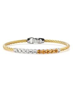 ALOR - Multicolor Stone Cable Bangle Bracelet