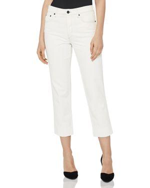 Reiss Flint Contrast-Stitch Crop Straight Jeans in Off White 2951954