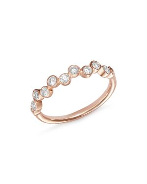 Bloomingdale's Diamond Bezel-Set Ring in 14K Rose Gold, 0.40 ct. t.w. - 100% Exclusive