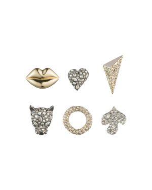 ALEXIS BITTAR Earring Capsule Six-Piece Jada Stud Earring Set in Gold/ Silver