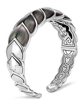 JOHN HARDY - Sterling Silver Legends Naga Mother-of-Pearl Medium Flex Cuff