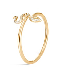 John Hardy 18K Yellow Gold Legends Cobra Diamond Pavé Flex Cuff - 100% Exclusive - Bloomingdale's_0