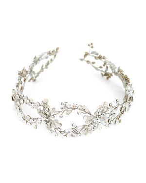 BRIDES AND HAIRPINS Brides And Hairpins Mila Halo Headpiece in Antique Plated