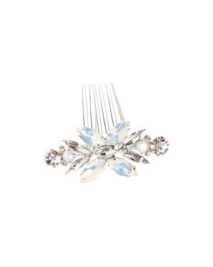 BRIDES AND HAIRPINS Brides And Hairpins Luciana Crystal Comb in Silver