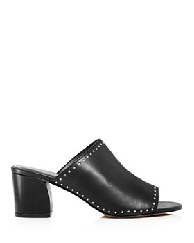Rebecca Minkoff - Women's Lainy Studded Leather Slide Sandals