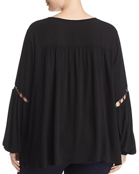 Love Scarlett Plus - Embellished Cutout Top - 100% Exclusive