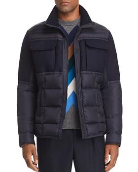 Moncler - Albi Down Shirt Jacket, Wool Sweater & Wool Pants