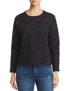 Eileen Fisher Textured Melange-Stitched Top