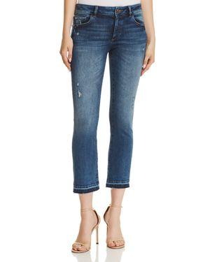Lara Mid-Rise Instasculpt Cropped Jeans, Elmwood