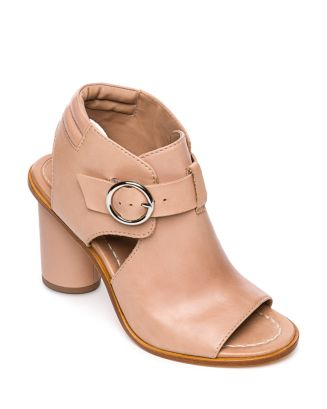 Hazel Peep Toe Leather Booties by Bernardo