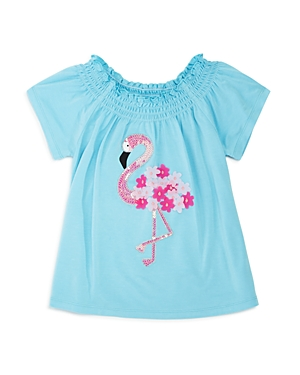Design History Girls' Sequin Flamingo Top - Little Kid