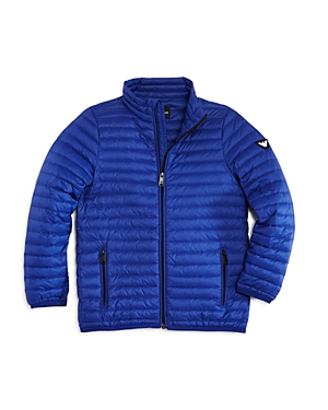 Armani Junior Boys' Lightweight Puffer Jacket - Little Kid, Big Kid