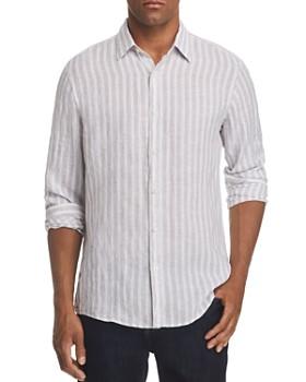 Michael Kors - Slim Fit Striped Linen Button-Down Shirt - 100% Exclusive