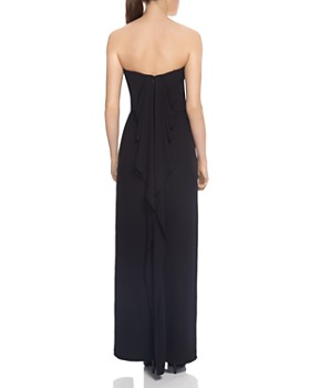 HALSTON HERITAGE - Strapless Draped-Back Gown - 100% Exclusive