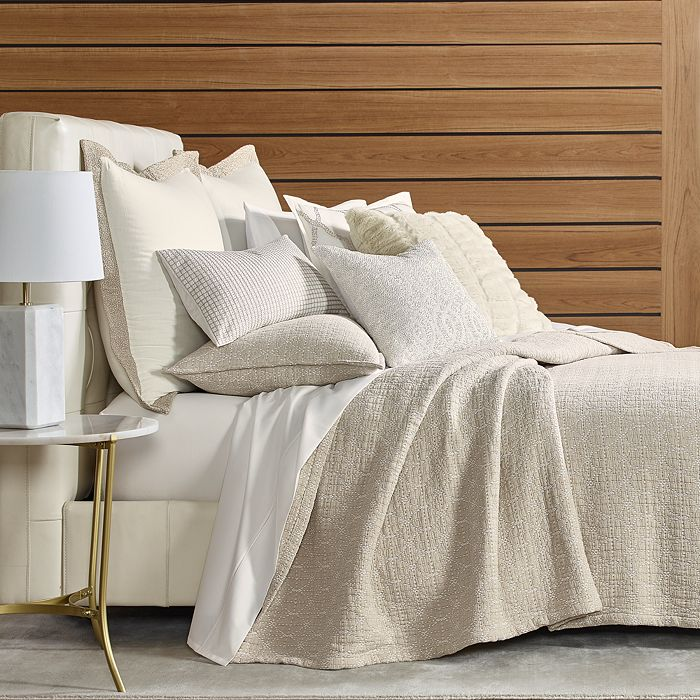 Hudson Park Collection - Seed Stitch Trellis Coverlets - 100% Exclusive
