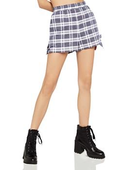 BCBGeneration - Tie-Hem Plaid Shorts