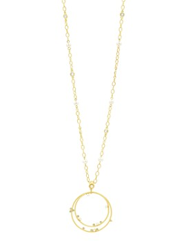 "Freida Rothman - Radiance Studded Double Loop Pendant Necklace, 27"""