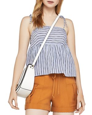 BCBGeneration Flounced Striped Top
