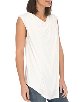 B Collection by Bobeau - Nevaeh Cowl Overlay Tank