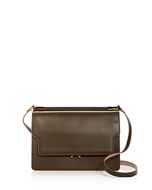 Marni Trunk Slim Leather Shoulder Bag