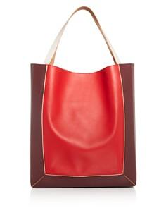 Marni - Color-Block Leather Soft Tote