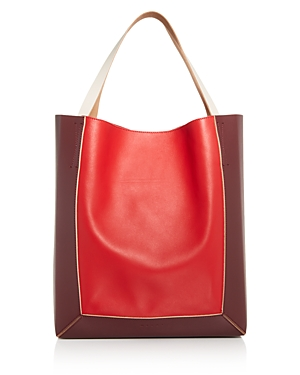 Marni Color-Block Leather Soft Tote