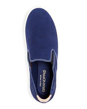 Cole Haan - Men's Grandpro Color-Block Nubuck Leather Slip-On Sneakers