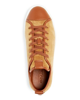COACH - Men's C121 Suede Cap Toe Lace Up Sneakers