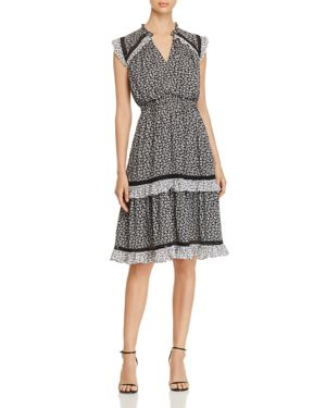 kate spade new york Plains Ditsy Ruffled Tiered Dress