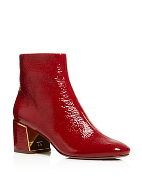 913a6dab42646f Tory Burch - Women s Juliana Tumbled Patent Leather Booties ...