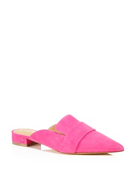 Tory Burch - Women's Rosalind Pointed Toe Suede Mules