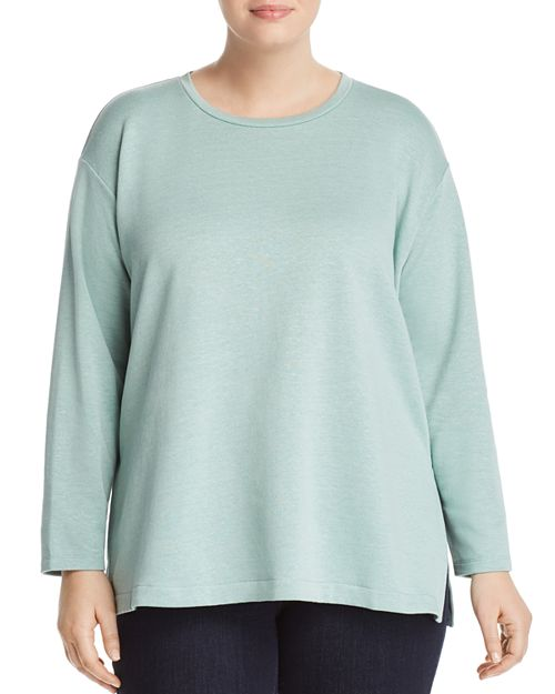 Eileen Fisher Plus - Organic Linen Long-Sleeve Top