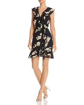 Bardot - Ruffled Floral Faux-Wrap Dress
