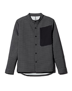 Dyne - Windowpane-Print Regular Fit Shirt