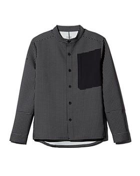 Dyne - Windowpane-Print Regular Fit Shirt