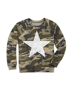 AQUA Girls' Camo-Print Terry Sweater, Big Kid - 100% Exclusive - Bloomingdale's_0