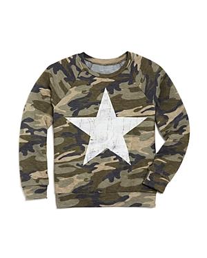 Aqua Girls CamoPrint Terry Sweater Big Kid  100 Exclusive