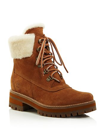Timberland - Women's Courmayeur Valley Round Toe Suede & Shearling Boots