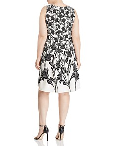 Leota Plus - Ava Floral Print A-Line Dress
