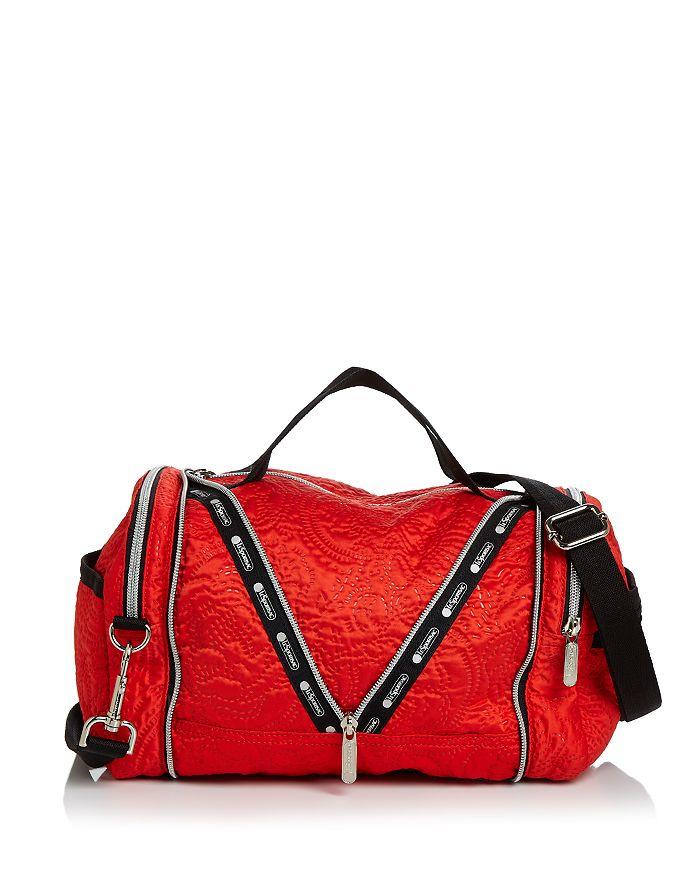 LeSportsac Colette Medium Floral-Embossed Convertible Duffel Bag ... d7c68b67ab329