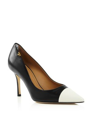 Tory Burch Women's Penelope Cap Toe Color-Block Leather Pumps
