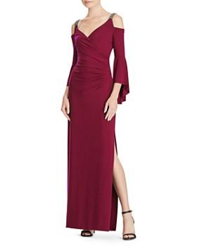 Ralph Lauren - Embellished Cold-Shoulder Gown