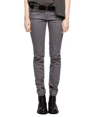 Zadig & Voltaire Eva Slim Jeans in Gray 3045455