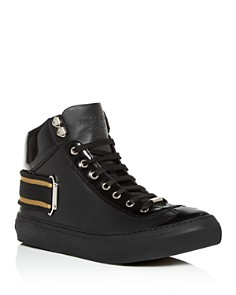 Jimmy Choo - Men's Argyle Leather High-Top Sneakers