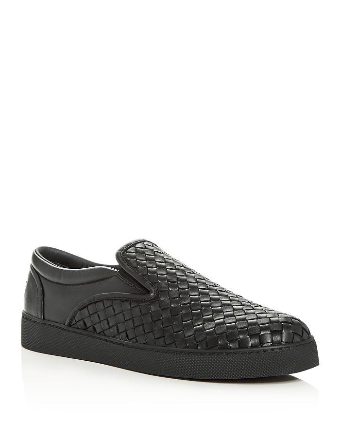 bce9f47f2552a Bottega Veneta Men's Woven Leather Slip-On Sneakers | Bloomingdale's