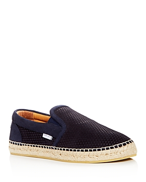 Jimmy Choo Men's Vlad Embossed Suede Espadrilles
