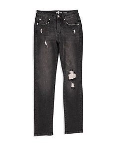 7 For All Mankind Boys' Distressed Paxtyn Jeans in Eclipse - Little Kid, Big Kid - Bloomingdale's_0