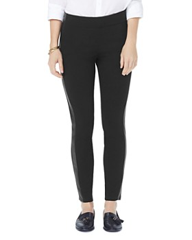 NYDJ - Faux-Leather Trimmed Ponte Leggings - 100% Exclusive ... c6ddc8ab8
